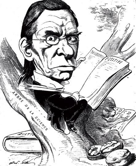Caricature d'Émile Littré